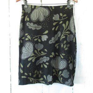 Gudrun Sjoden Skirt Black Gray Floral Pencil